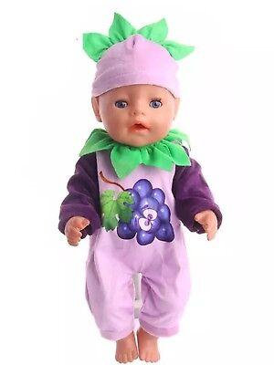 Einteiler 43 Cm Pink Neu Hoher Standard In QualitäT Und Hygiene Baby Born/sister Puppenkleidung Zb Outfit