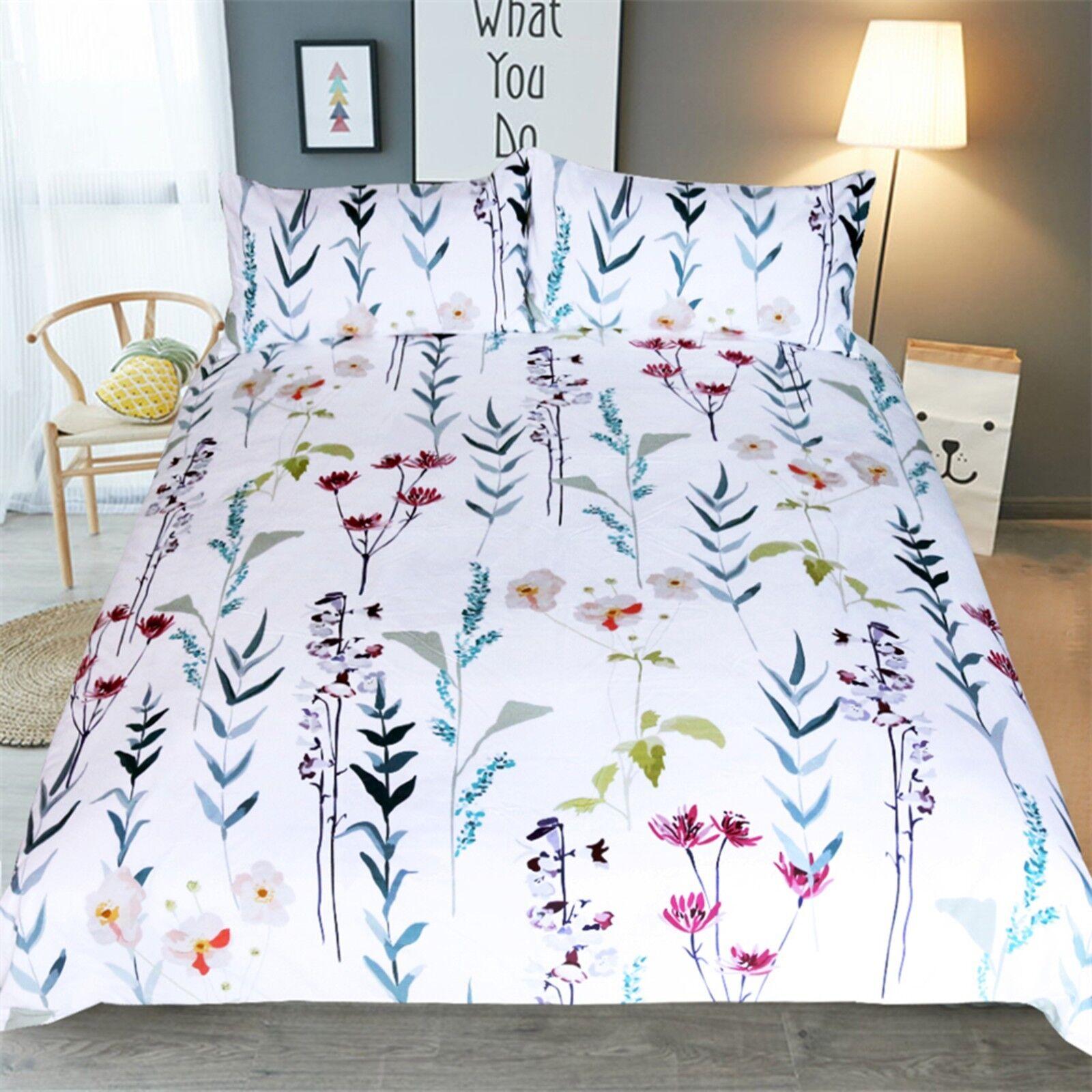 3D Simple Flower 482 Bed Pillowcases Quilt Duvet Cover Set Single Queen CA