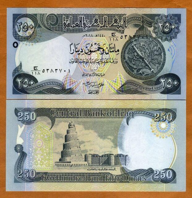 Iraq 250 Dinars 2002 P 88 Unc Saddam