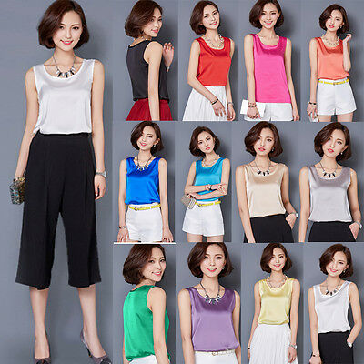 Sexy Stylish Women Summer Loose Sleeveless Casual Tank T-Shirt Blouse Tops Vests