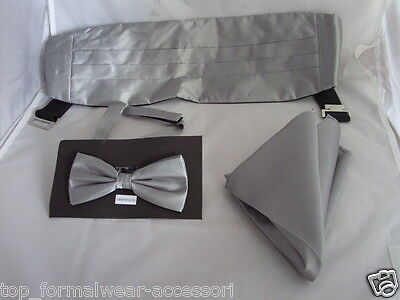 Polyester Gold Pre-tied OR Self-tie Bow tie and Hankie Set />/> P/&P 2UK />1st Class