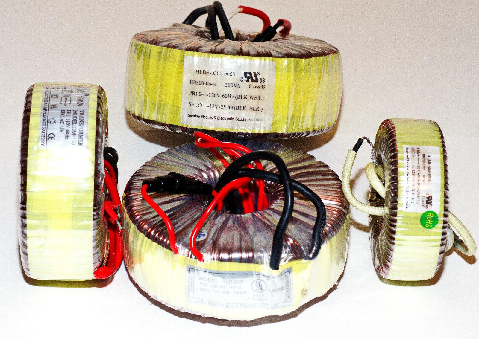 Transformador Toroidal 190W para lámparas halógenas & Candelabros Bombilla