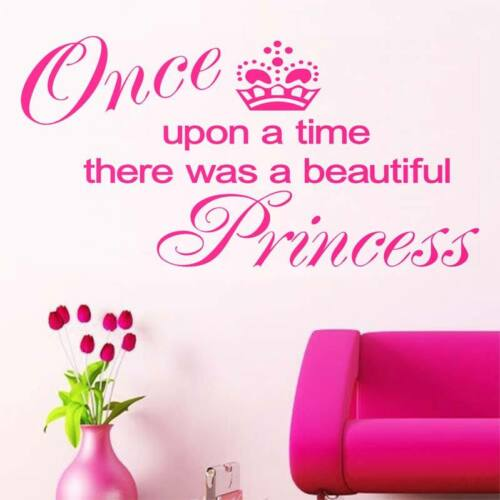 Once upon a time a Princess  Wall transfer sticker New Design Look! Hot!