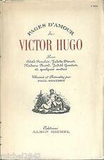 Pages d'Amour de Victor Hugo 1949 littérature correspondance lettres