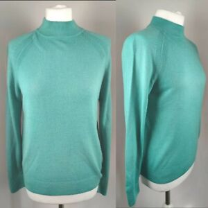New-M-amp-S-Women-039-s-Jumper-Soft-Knit-034-Jade-034-Green-High-Neck-Acrylic-Office-Career-12