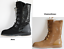 Emu Sussex Hi Merino Wool Lace Front Mid Calf Boots with Leopard Print new