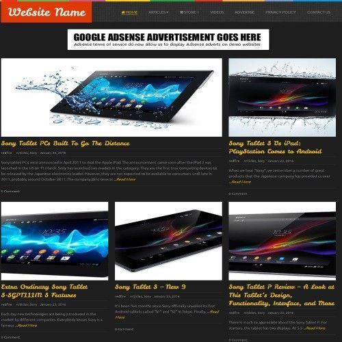 TABLETS STORE - Work From Home Online Business Website For Sale + Domain + Host 2