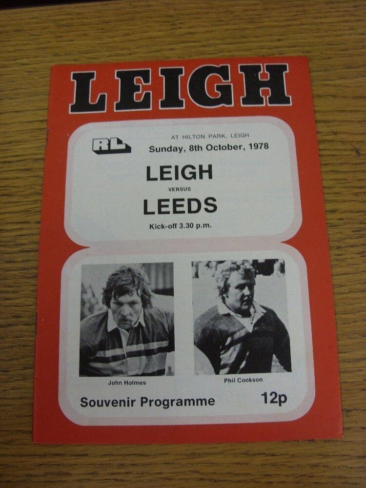 08/10/1978 08/10/1978 08/10/1978 Rugby League programme: Leigh V Leeds 289347