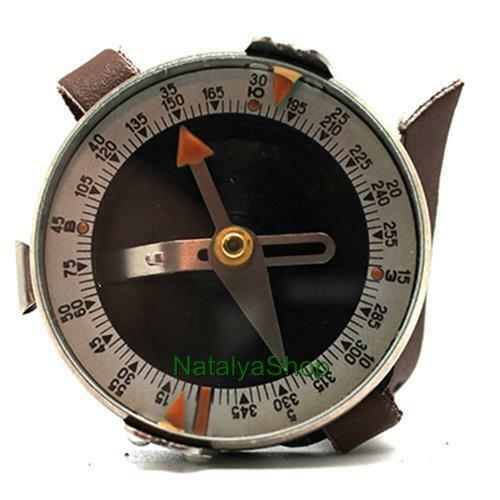 Soviet Vintage Russian Army Compass Combat Adrianov Hand Ussr Leather Hiking