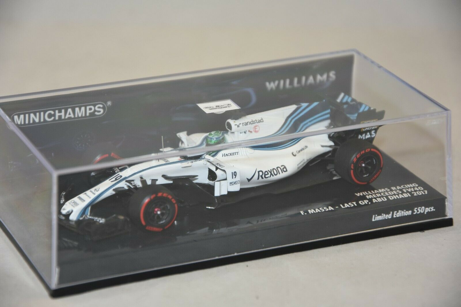 Minichamps-williams martini racing mercedes fw40 – felipe massa – last gp 1 43