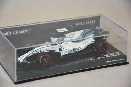 FELIPE MASSA WILLIAMS MARTINI RACING MERCEDES FW40 LAST GP 1//43 Minichamps