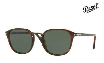 Persol Men/'s PO3186S PO//3186//S 24//57 Havana Square Polarized Sunglasses 51mm