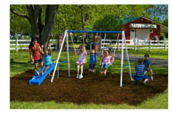 Swingset Multi Activity Fun Time Metal Play Summer Anchor Anchor Anchor UV colorant Predectant 6fae77