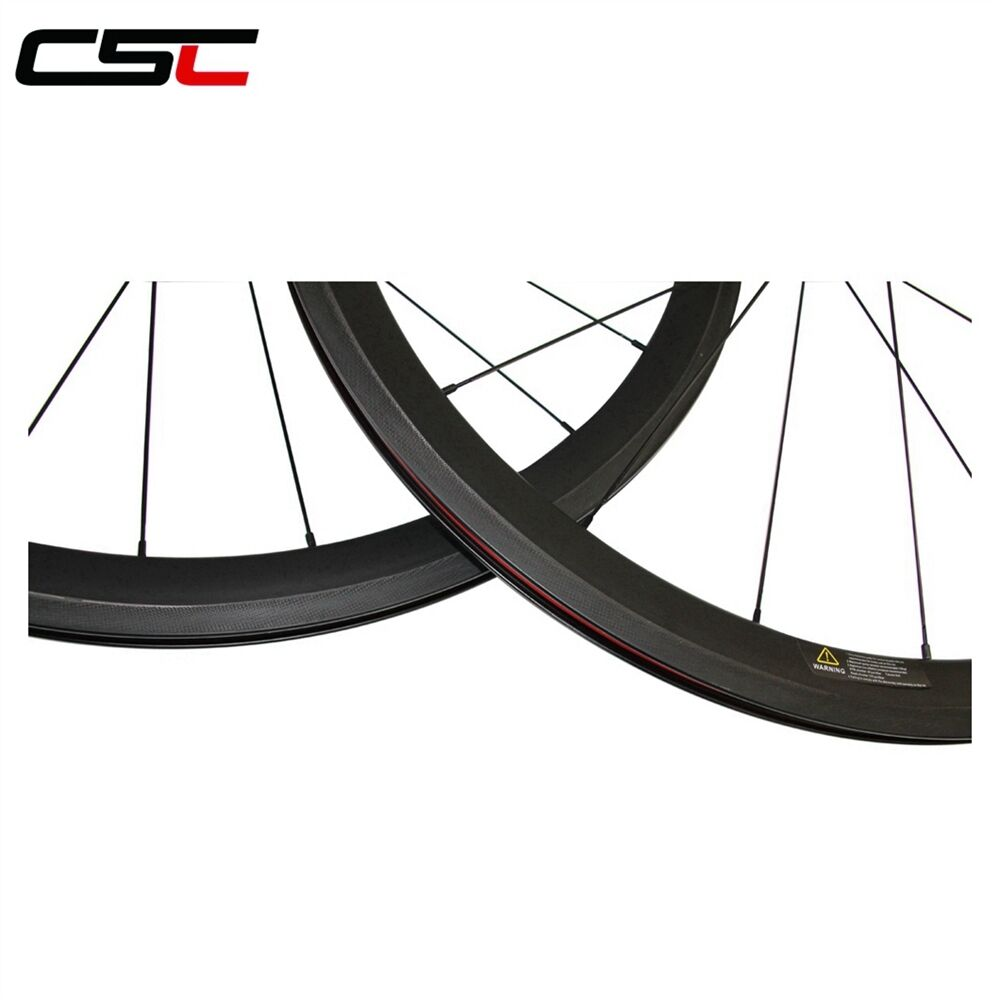 CSC 700C Ultra Light carbon wheels 24mm clincher front carbon bike road wheels