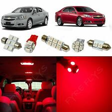 7x Red LED lights interior package kit for 2013 and up Chevrolet Malibu CM1R