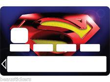 Stickers Autocollant Carte bancaire - Skin - CB  Superman  1121