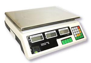 66LB-30KG-DIGITAL-PRICE-DELI-FOOD-MEAT-COMPUTING-COUNTER-SCALE-DUAL-SIDE-DISPLAY