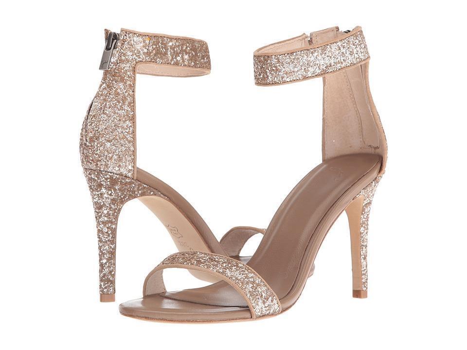 Joie Adriana gold Glitter High Heel Ankle Strap Sandals Size 41