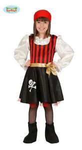 GUIRCA Costume vestito pirata piratessa corsara carnevale bambina mod. 8319_