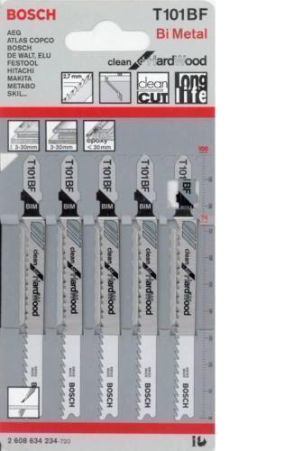 Bosch Jigsaw blade T101BF Clean for Hard Wood