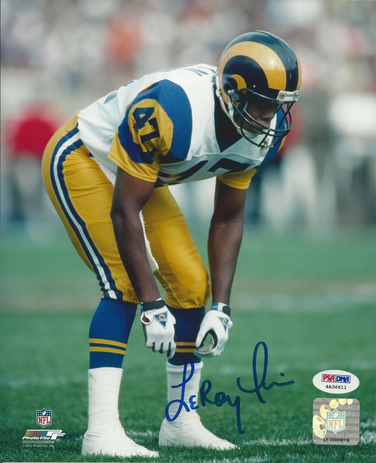 Leroy Irvin Los Angeles Rams Signed 8x10 Photo - PSA/DNA # 4A36611