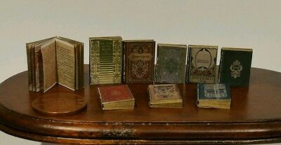 dolls house minature books, Tudor style job lot of 9 books with print! 1:12th