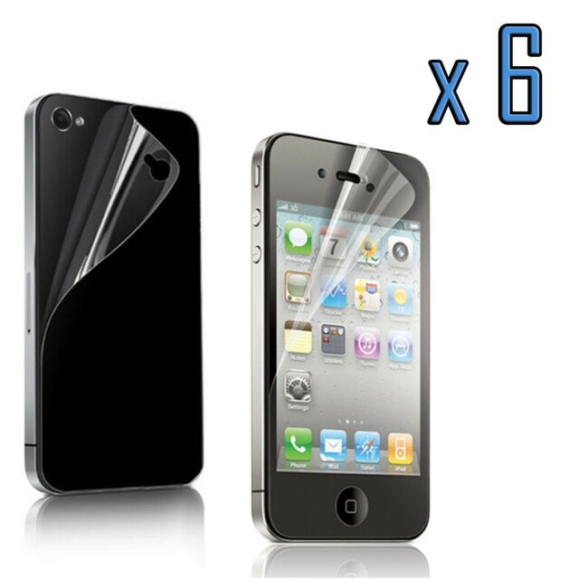 Clear Screen Protector Cover Film for Apple iPhone 4 4S 4G 12pcs=6x(Front+Back)