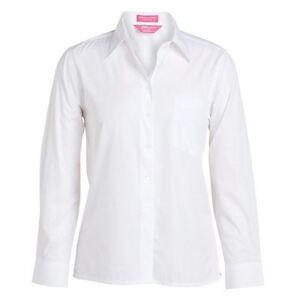 HEELS-DOWN-CLOTHING-LADIES-LONGSLEEVE-WHITE-SHIRT-PONY-CLUB