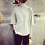 Mujeres-ninas-Coreano-de-Moda-Informal-Mangas-Cortas-Suelta-Blusa-Camiseta-Camiseta-Prendas-para-el miniatura 1