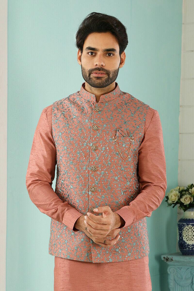Mens Bollywood Wedding Ethnic Wear Pakistani Gents Wear Kurta Pajama Dress