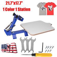 1 Color 1 Station Silk Screen Printing Machine T Shirt Printer Press Equipment