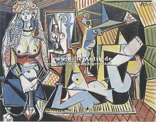 Die Frauen von Algier nach Delacroix Turban Bazar Pablo Picasso auf Platte 081