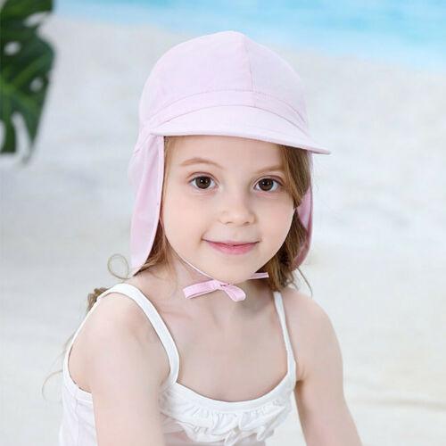 Toddler Cap Baby Kids Girls Boys Summer Ruffle Candy Solid Sun Hat Cap UPF 50+