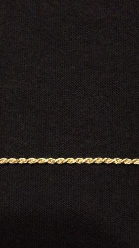2 mm .925 Italie Chaîne en or 14k or vermeil Corde Chaîne 20 in environ 50.80 cm