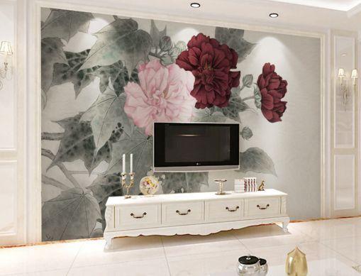 3D Tinte, Blumen 089989 Fototapeten Wandbild Fototapete BildTapete Familie DE
