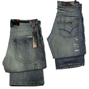 Apt-Mens-Jeans-Straight-Designer-Bootcut-Stonewash-Rinse-Regular-Fit-Denim-Pants