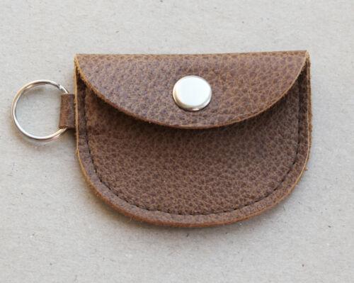 Mini Geldbörse Leder Chip-Täschchen Schlüsselanhänger personalisiert Vintage