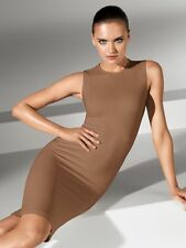 WOLFORD BILBAO SLEEVELESS BODYCON STRETCH DRESS in RARE 'BRANDY' SIZE'S - S or M
