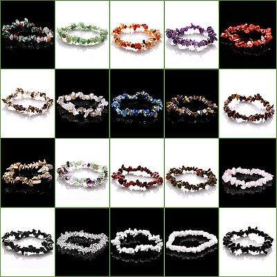 20 Choises Natural Jewelry Chip Beads Weave Bracelet GC0