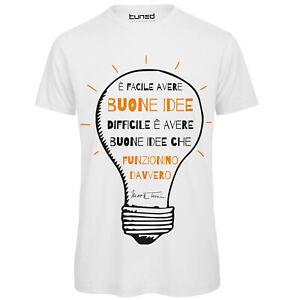 T-Shirt-Ironica-Maglia-Uomo-con-Stampa-Frase-Famosa-Mark-Twain-Buone-Idee-Tuned