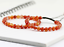 miniature 8 - Unisex Bracelet GemstoneOrange  Red Stripe Carnelian Bead Healing Reiki UKseller