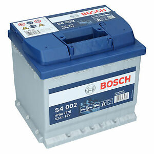 pkw autobatterie 12 volt 52 ah bosch s4 002. Black Bedroom Furniture Sets. Home Design Ideas