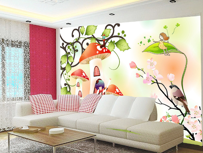 3D Castle Bird 501 Wallpaper Murals Wall Print Wallpaper Mural AJ WALL AU Kyra