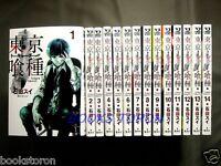 NEW    Tokyo Ghoul 1-14 Comic Complete set - Sui Ishida /Japanese Manga Book