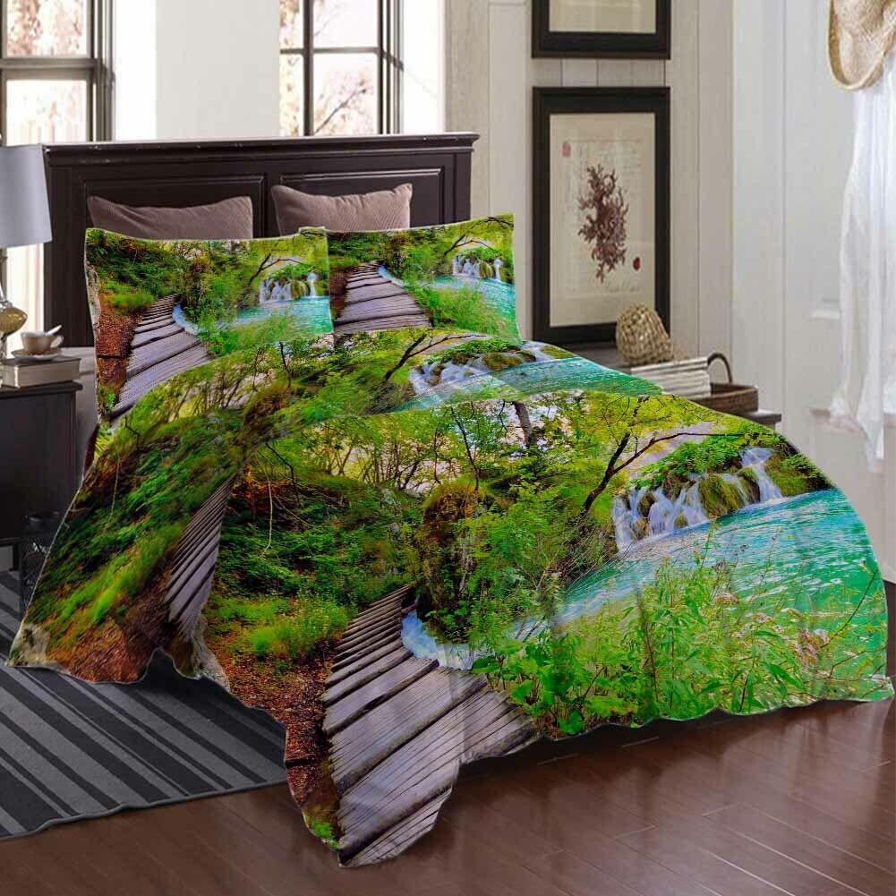 Wood Ladder Water 3D Printing Duvet Quilt Doona Covers Pillow Case Bedding Sets