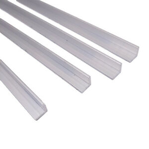 "US Stock 8pcs 10mm x 10mm x 250mm 9.84/"" Long 1mm Thick 6063 T5 Aluminum Angle"