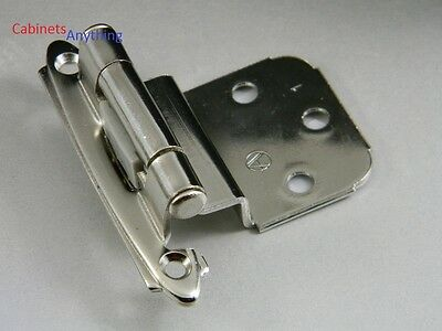 1-Pair AMEROCK SELF-CLOSING CABINET DOOR HINGES POLISHED CHROME BP7628-26 NOS