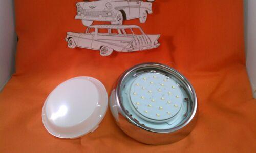 1955 1956 1957 1958 1959 1960 Chevy LED Dome Light Complete Chrome Bezel Sedan