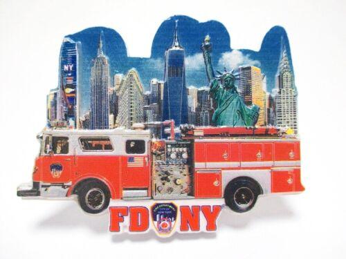 New York Poly Magnet Feuerwehr Fire Department Souvenir (883489)