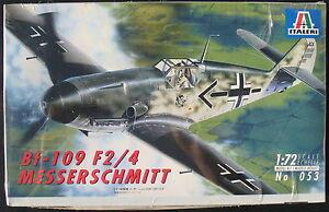 ITALERI-053-Bf-109-F2-4-MESSERSCHMITT-1-72-Flugzeug-Bausatz-Kit-NEU-amp-OVP